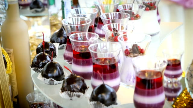 Cherry in chocolate and jelly candy bar video