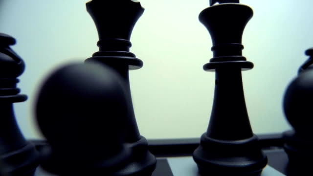 Chess Board and Pieces. Closeup video