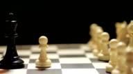 Chess board, white winning video