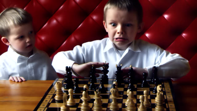 Chess boy anger video