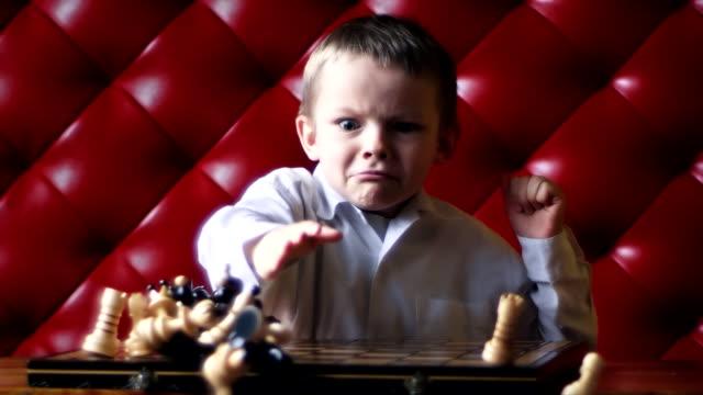Chess boy anger video