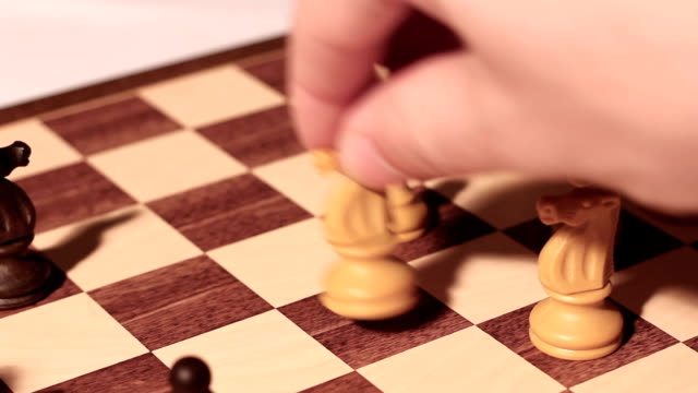 chess game horse move video