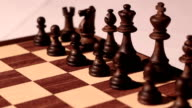 chess game  king and queen of the standard bearers video