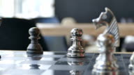 Chess in the action of move decisive checkmate video