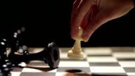 Chess match white winning video