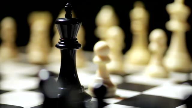 Chess match with white winning video