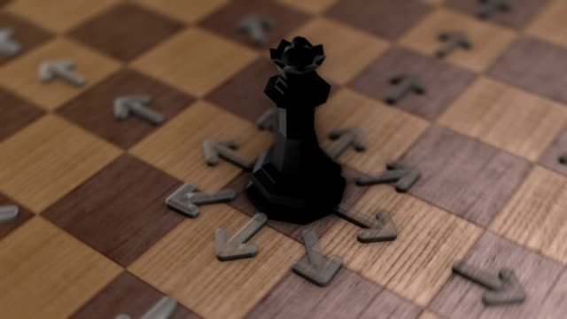 Chess movement - The Queen video