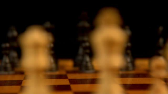 Chess pieces rack focus (HD) video