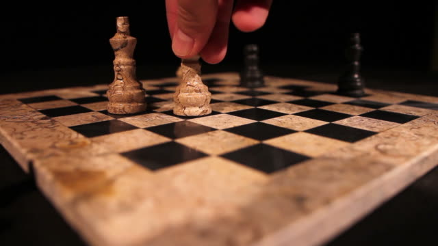 A chess player attacks the opponents king, it is a check video