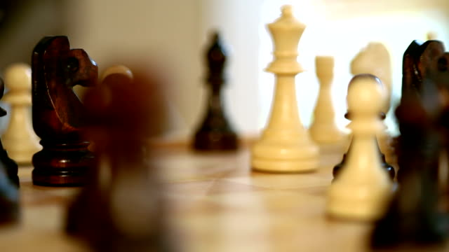 Chess: rack focus from castle to queen video