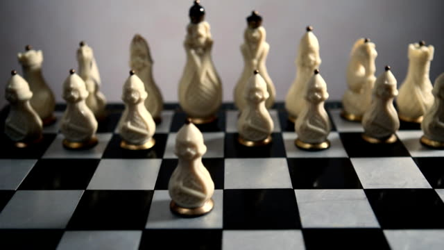 chessboard and chess pieces video
