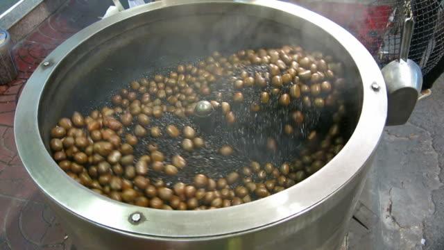 Chestnut roasting machine video