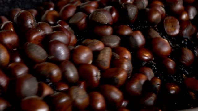Chestnuts in Chestnut roasting machine video
