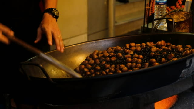 Chestnuts in Chestnut roasting video