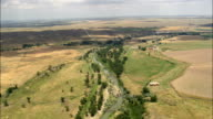 Cheyenne River Valley  - Aerial View - South Dakota, Fall River County, United States video