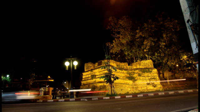 Chiang Mai city wall timelapse, Thailand video