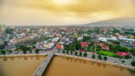 Chiang mai cityscape day to night time lapse video
