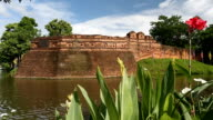 Chiang Mai moat and ancient wall , Thailand. video