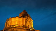 Chiangmai Thailand , Wat Chedi Luang Temple day to night time-lapse video