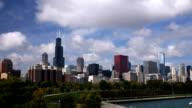 Chicago City Skyline Nightfall video