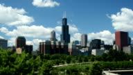 Chicago City Skyline Pan Day to Night video
