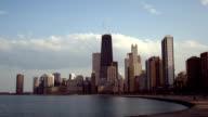 Chicago Hancock Center Lakefront Skyline Nightfall video