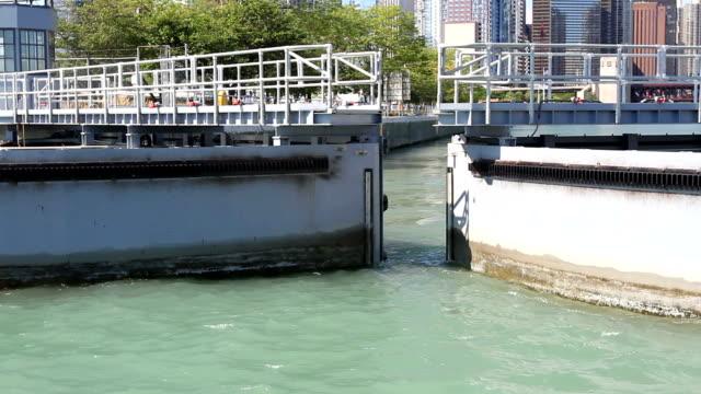Chicago Harbor Lock (Two Shots) video