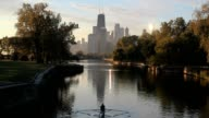 Chicago Lincoln Park at Daybreak video