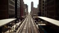 Chicago Loop trains timelapse video