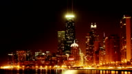 Chicago Night Skyline video