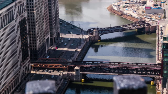 Chicago River Wacker Time Lapse video