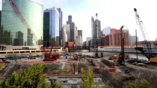 HD: Chicago River with Skyline Cityscape USA video