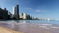 Chicago Skyline and Beach video