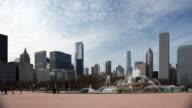Chicago Skyline and Buckingham Fountain video