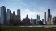 Chicago Skyline and Lake video