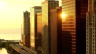 Chicago Skyline Sunrise video