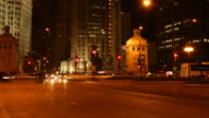 Chicago Traffic By Night - Timelapse video