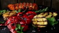 chicken breast fillet grilled vegetables video