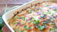 Chicken lasagna and white cheese . video