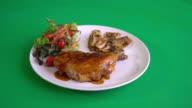 chicken steak with BBQ sauce video