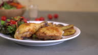 chicken steak with BBQ sauce video