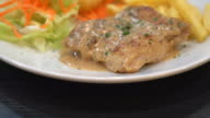 chicken steak with peppers sauce video