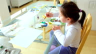 Child at home drawing video