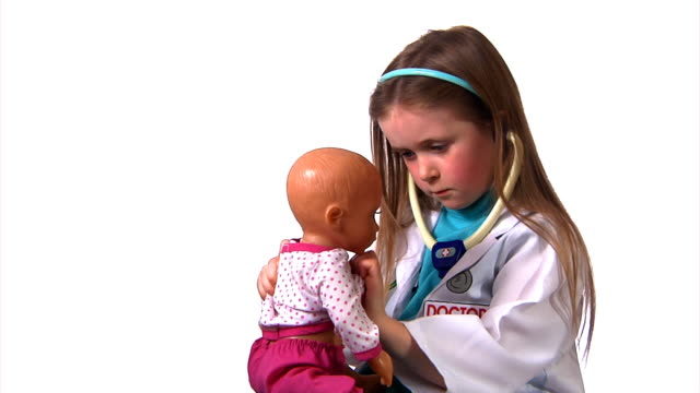 Child being a doctor video
