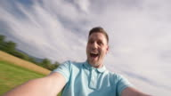 POV Child being spun around by father on sunny day video