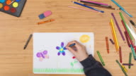 Child drawing timelapse video
