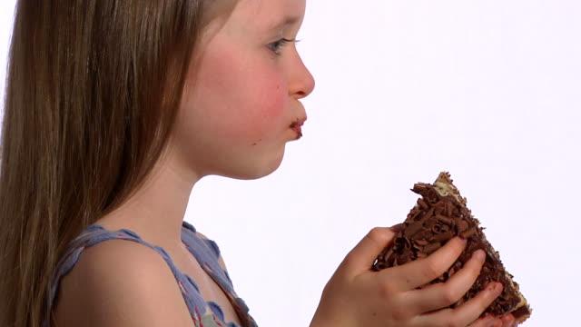 Child eating cake video