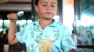 Child eating ice cream video