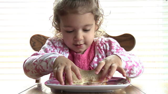 Child Eating Sandwich video