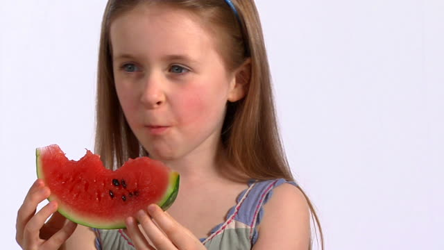 Child eating watermelon video